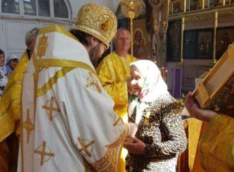 Божественная литургия в Никольском храме деревни Уварово