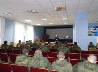 Священник провёл ознакомительную беседу с военнослужащими Шаталовского гарнизона