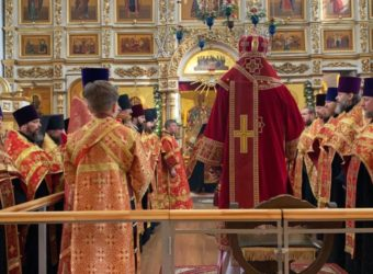 Великая вечерня в день Святой Пасхи
