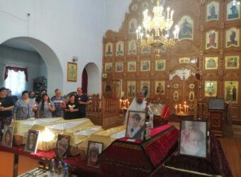 Отпевание в храме г. Починок